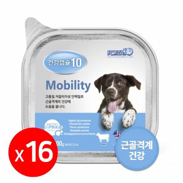 건강캡슐10 관절 mobility 강아지주식캔 1box 16개