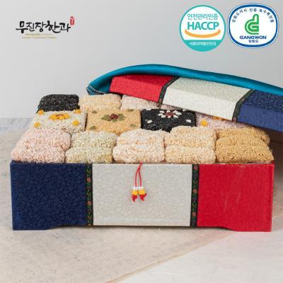 강릉사천 무진장한과 청홍실크 대 4단 3kg