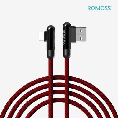 로모스 3A 90도 USB-C 타입 게이밍 고속충전 케이블