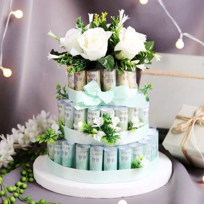 DIY 용돈 케이크 3단