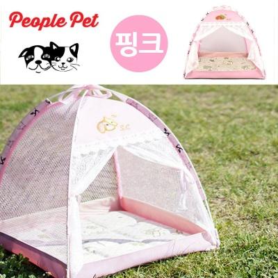 피플펫 천국텐트 강아지 하우스 (핑크)