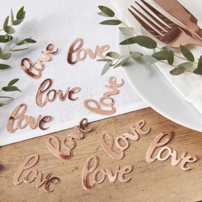 로즈골드 Love 테이블 컨페티 GR
