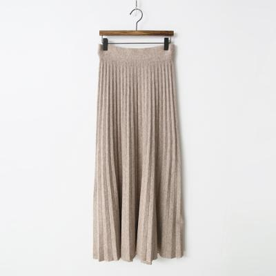 Knit Pleated Long Skirt