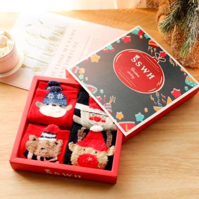 [4켤레세트]성탄 세트 박스포함 크리스마스 수면양말