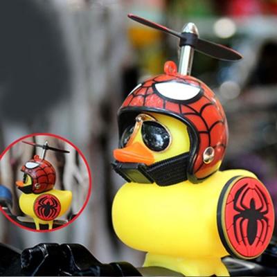 히어로 러버덕 헬멧 방패 자전거 라이트 벨 WC28 거미