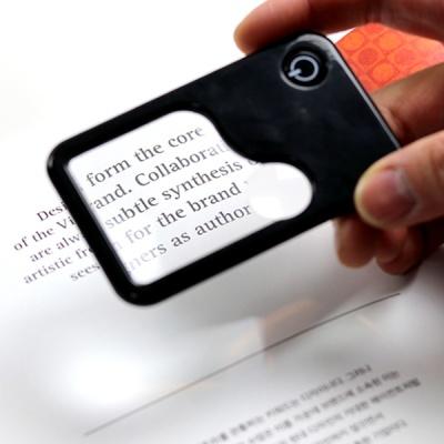 카드클립형 휴대용 LED 돋보기 1+1 특가