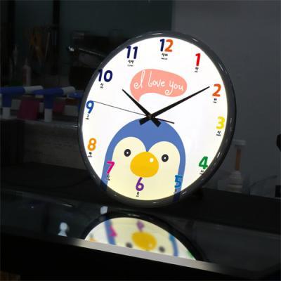 ng093-LED시계액자35R_귀여운동물친구들B