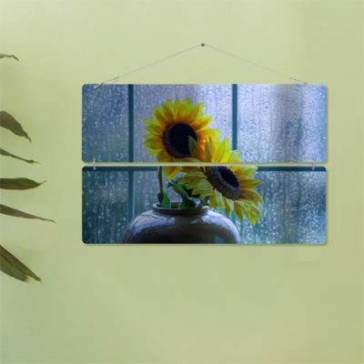 nk014-비오는창문에해바라기(2단대형)