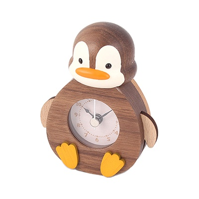 우더풀라이프 시계 PENGUIN ROCKING WOODEN CLOCK