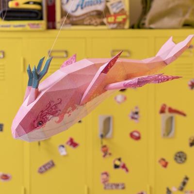[톰텐] 페이퍼크래프트 고래의비행(샤이) Whale Flight(Shai)
