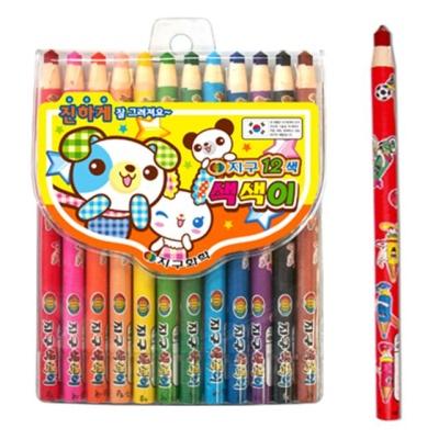 지구 학생용색연필 색색이 12색 37795