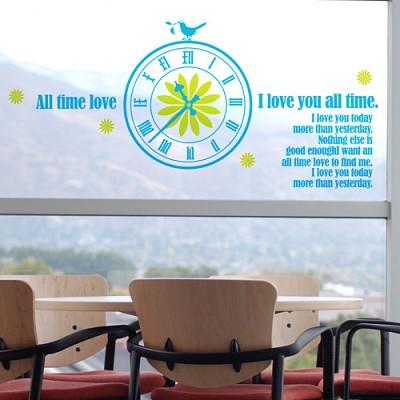 [디자인베이] 시간을빌려줄게 (반제품C타입) 그래픽스티커 시계 타이포 포인트 시트지