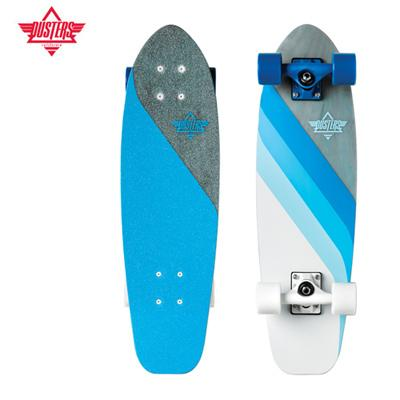 [DUSTERS] 26 GLASSY FLOW BLUE X FIBERGLASS PREMIUM MINI CRUISER COMPLETE