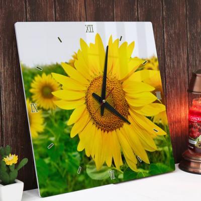 pm320-아크릴시계_풍수재물의노란꽃