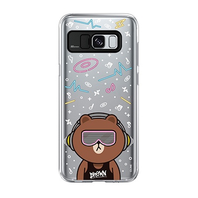 Galaxy S8 Plus BROWN CLUB Light UP Case