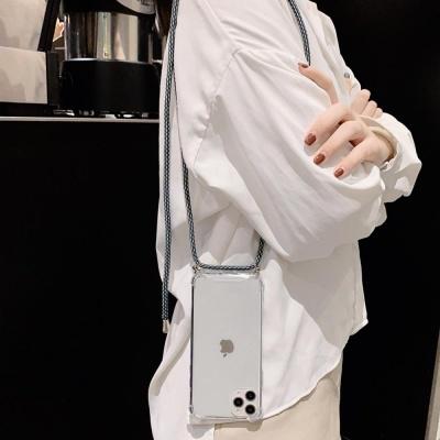 갤럭시S20플러스 핸드폰목걸이 줄 스트랩 투명케이스