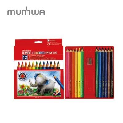 문화 점보 12색 색연필 어린이 색연필 미술놀이