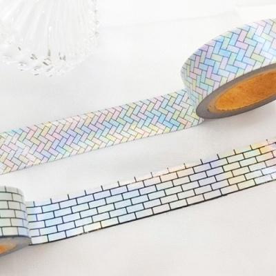 벽돌과 파도 홀로그램 마스킹테이프