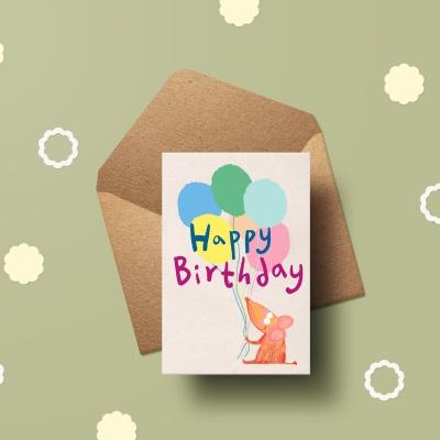 [카드] new Happy birthday 캘리그라피 카드