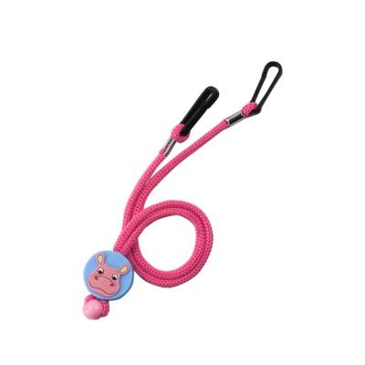 키즈 동물 캐릭터 마스크 스트랩 - 핑크(Pink)