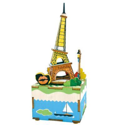 [adico]DIY 미니어처 뮤직박스 - 에펠탑