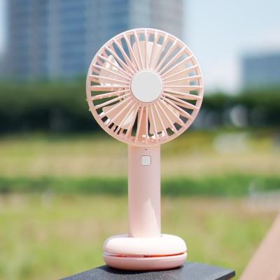 LED 미니 휴대용 선풍기 PANDA-F7 핑크색