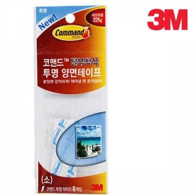 3M 코맨드 투명 리필 양면테이프(소) 8개입