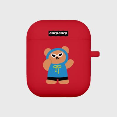 Sunglass bear-red(Air pods)