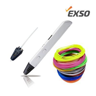 EXSO 엑소 LEDGO-3D펜+노즐+PLA필라멘트15색 set