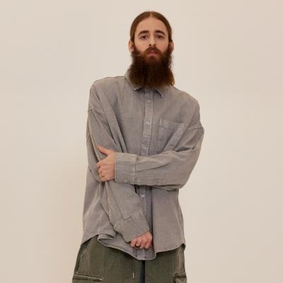 CB 아콘 피그먼트 셔츠자켓 (그레이)