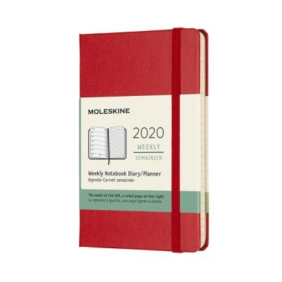 몰스킨 2020위클리/스칼렛레드 하드 P