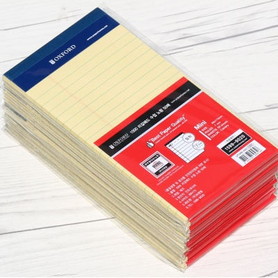 옥스포드 50매×10권 mini 리갈패드 수첩-노랑 LP1MN