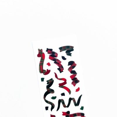 푸푸남 RED체크페티 씰스티커