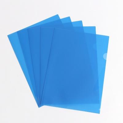 대용량 클리어홀더 100장(블루)/ A4 투명 L자화일