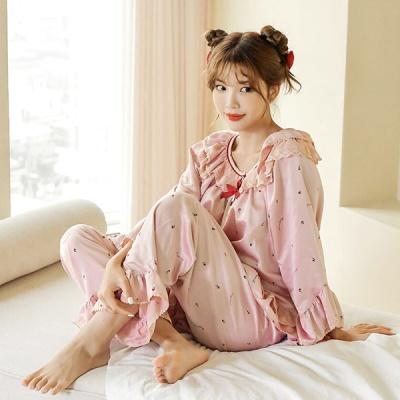 [쿠비카]A라인 소매핏 미니딸기 투피스 여성잠옷 W660