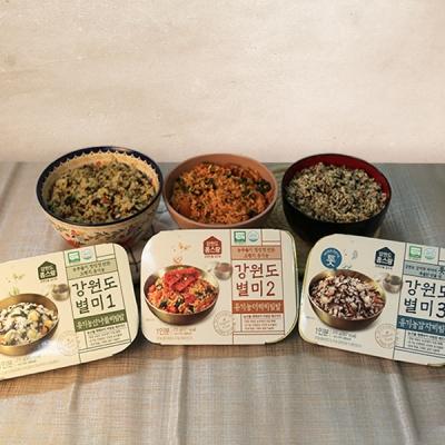 강원도 유기농 비빔밤 3종(산나물,더덕,감자)x215g