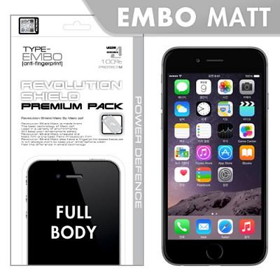 [프로텍트엠/PROTECTM] 아이폰6/iPhone6 4.7인치 레볼루션쉴드 엠보팩 지문방지 전신보호필름+액정보호필름