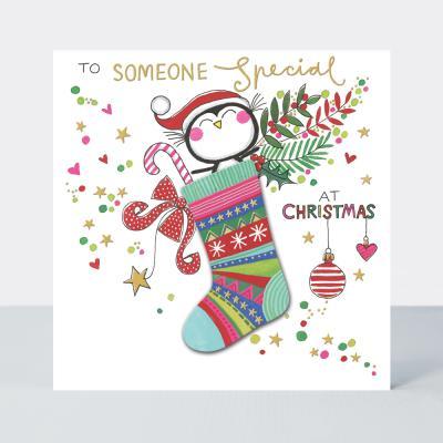 [빛나파티]양말속의 펭귄 크리스마스 카드
