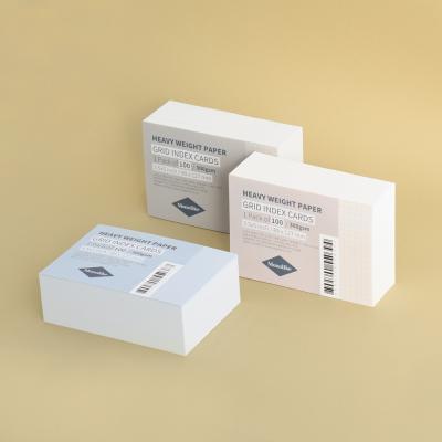 컬러 그리드 인덱스카드 100매 - 3.5x5