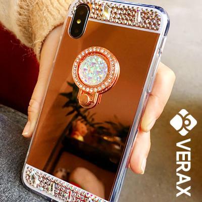 P176-1 아이폰11 트윙클 미러 링 큐빅 젤리 케이스