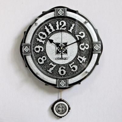 (ksiw033)엠페러 실버벽시계 (소)
