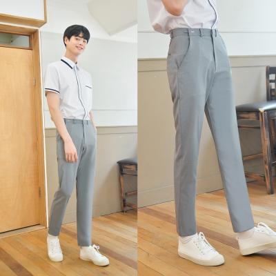 [하복][허리조절] 스판 연그레이 교복바지(남자)