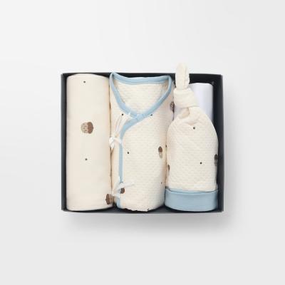 [메르베]도토리키재기 출산선물(저고리+속싸개+모자)