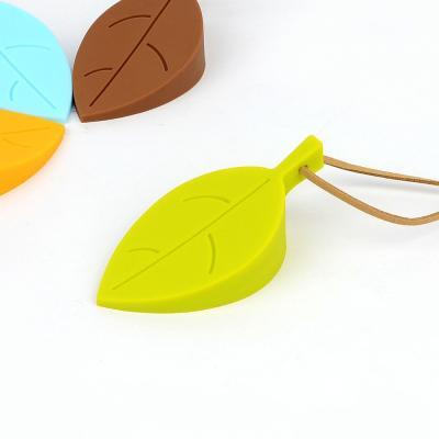 나뭇잎 실리콘 도어스토퍼 1개(색상랜덤)