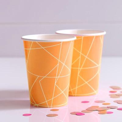 네온 오렌지 종이컵 Neon Orange Paper Cups GR
