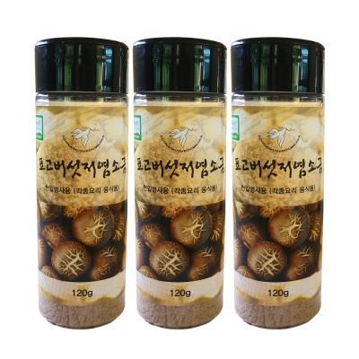무농약 표고버섯 저염소금 120gx3통 표고버섯 25%