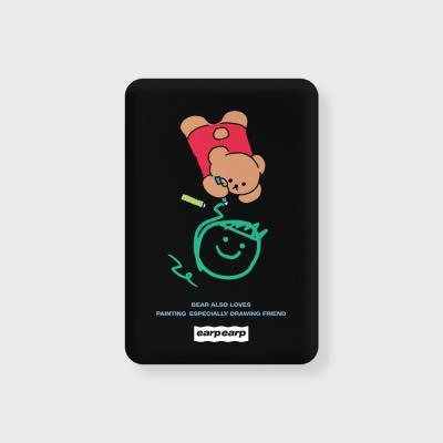 Doodle bear-black(무선충전보조배터리)