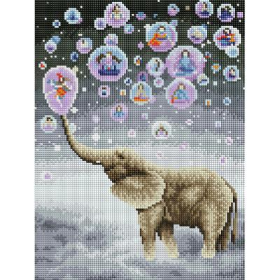 코끼리의 꿈 (캔버스형) 보석십자수 30x40