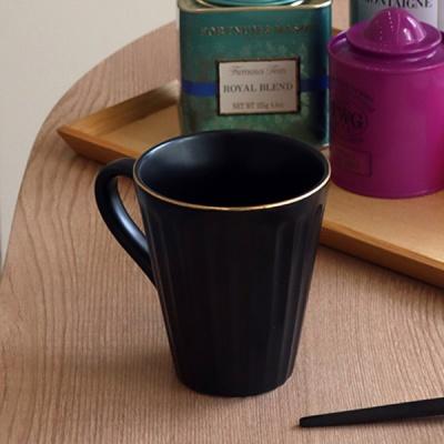 골드 크롬 모던 엣지 머그컵 (2color)
