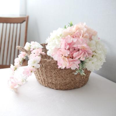 벚꽃수국부케 화관set